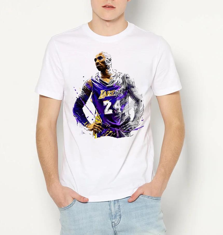 GONTHWID New Memorial T-shirt Black Mamba Snake Basketball Mens Short Sleeve Summer No. 24 Sports Mens Tops Hot Sale