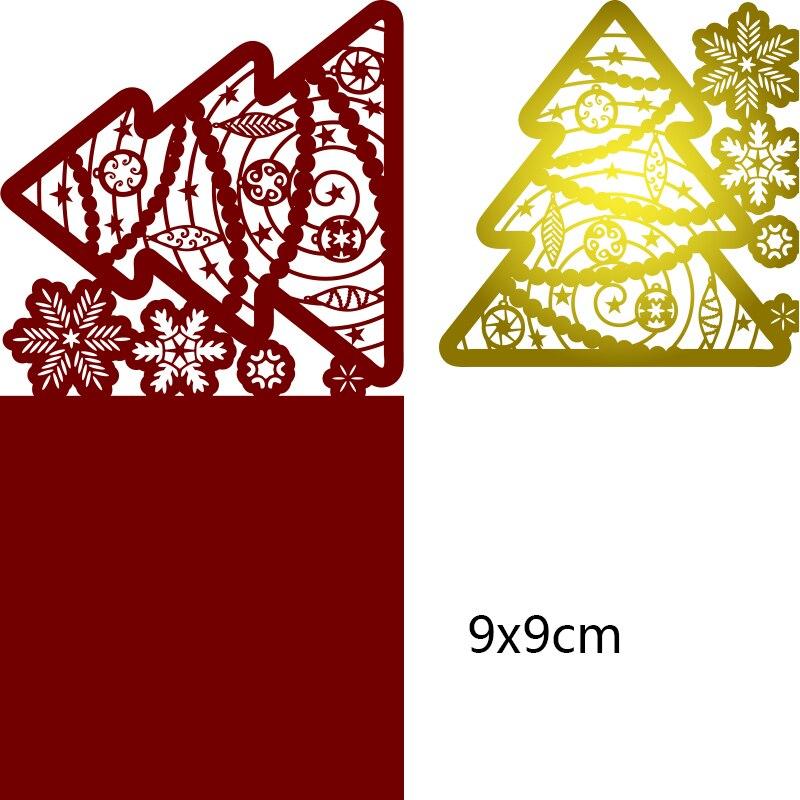 Metal steel frames Cutting Dies  Christmas tree greeting card  DIY Scrap booking Photo Album Embossing paper Cards90*90mm