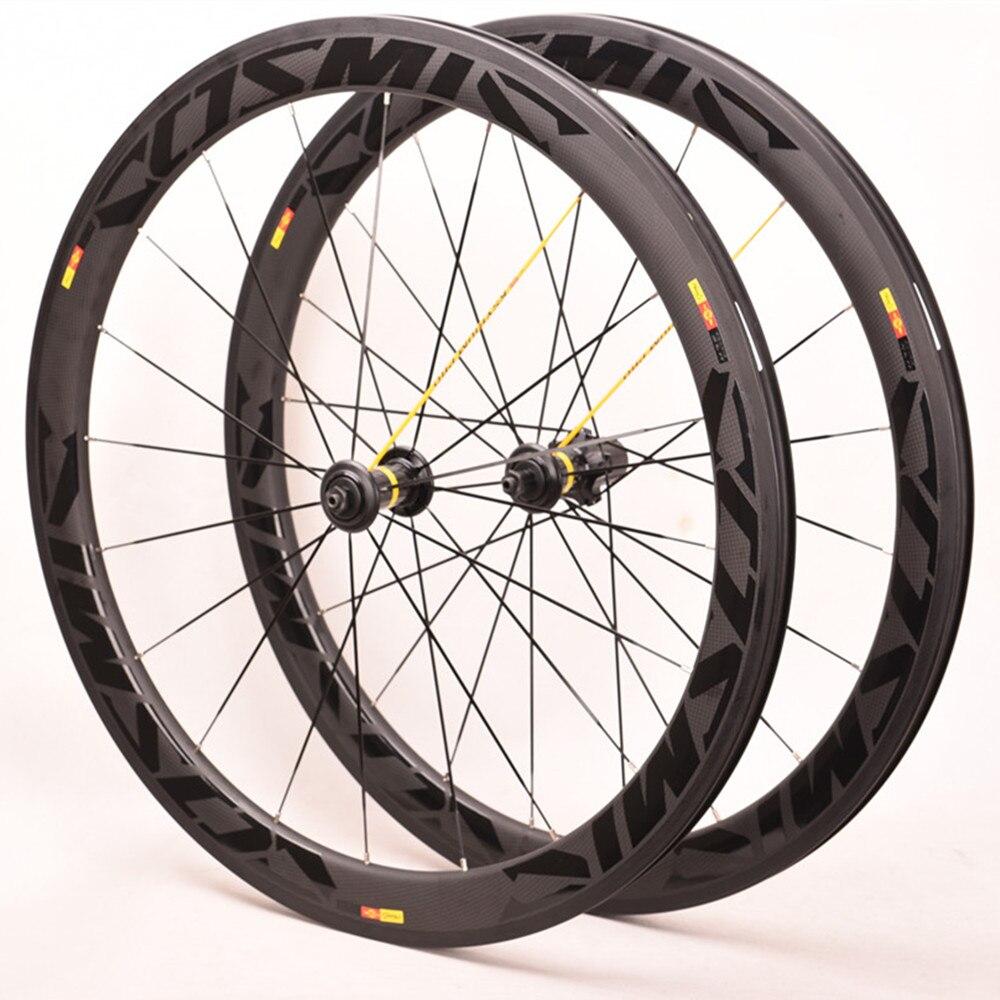 Carbono cerâmico selado rolamento hub 3 k sarja bob sl cósmica rodas de carbono 50mm largura 25mm 700c bicicleta estrada rodado 3t1000