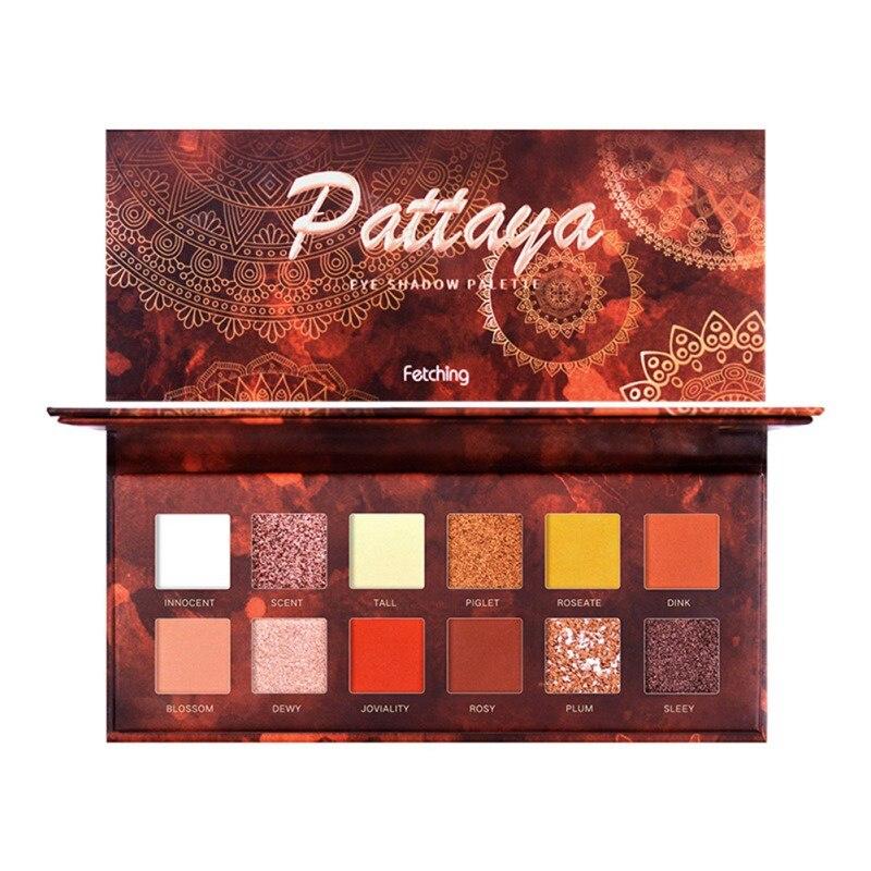 Paleta de sombra de ojos brillante de 12 colores, sombra de ojos de moda duradera, paleta de maquillaje de ojos, cosméticos, regalo para niñas 2020