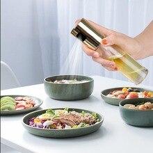 Spray garrafa de óleo pulverizador pote de óleo para churrasco ferramenta de cozinha pode pot panelas ferramenta de cozinha de aço inoxidável bomba oliva