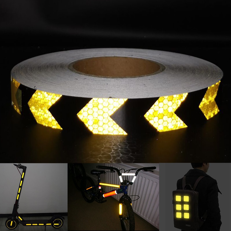 Cinta reflectante de motocicleta para decoración de automóviles, Material seguro para decoración de automóviles