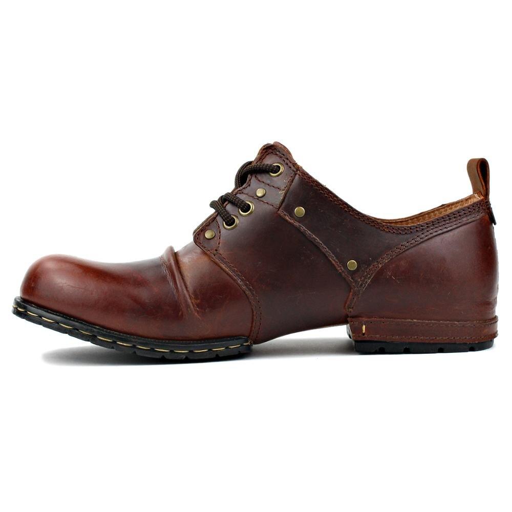 OTTO ZONE-أحذية جلدية غير رسمية للرجال ، أحذية مسطحة مصنوعة يدويًا ، جلد البقر الأصلي ، أحذية عصرية