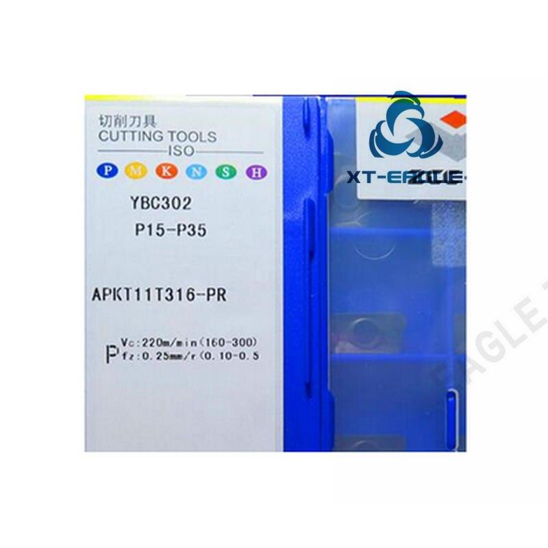 APKT11T316-PF YBG202 APKT11T316-PR YBC302 Frete grátis! 100% Original marca CNC lâmina