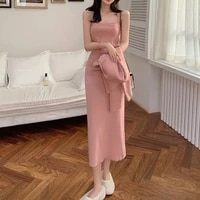 elegant womens dress knitted suit ladies sweater cardigan jacket bodycon dress solid two piece set autumn female outfit