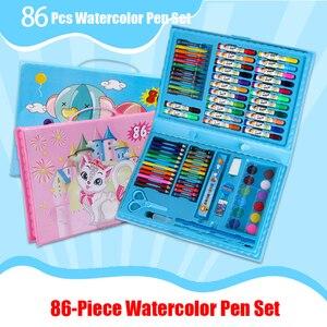 86 Pcs touchnew watercolor pen lettering calligraphy set children's painting set color pen alcohol inks set gift box wholesale