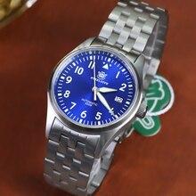 STEELDIVE 1940 NH35 Pilot Watch 200m Diver Sapphire Crystal Flieger Watch Mechanical Men 316L Steel Dive Watches Automatuic Man
