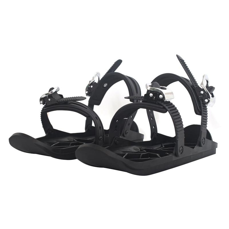 Quality Snow Shoes Mini Ski Skates for Snow the Short Skiboards Snowblades Adjustable Bindings Portable Skiing Shoes