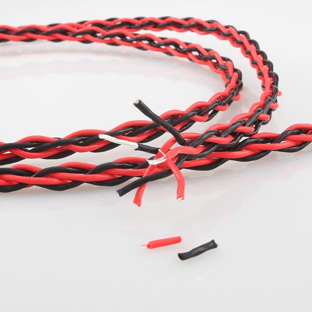 Cable de cobre Chapado en plata para parlante, amplificador de Audio HIFI,...