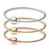 charm silver plated jewelry button bead bangle aesthetic minimalist style fashion diy women strand bracelets on hand gifts