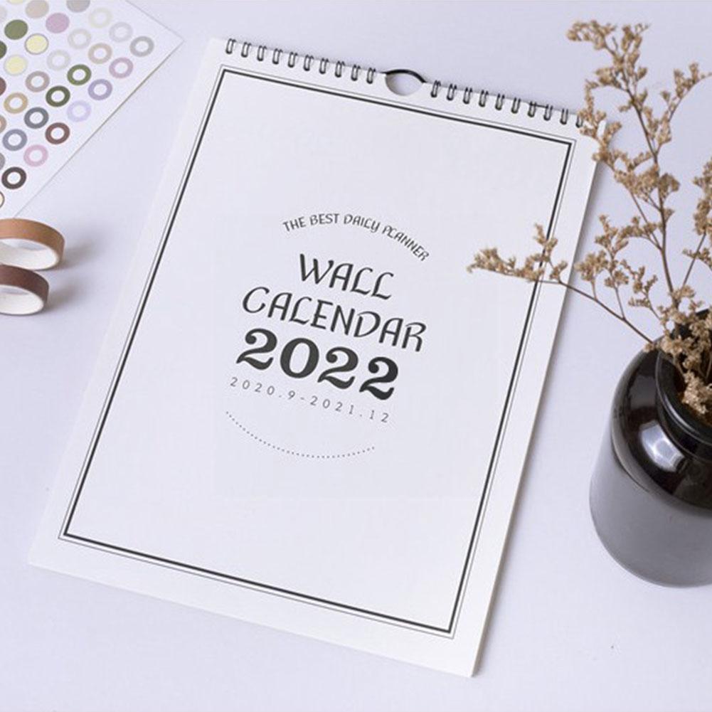 Настенный календарь 2022, ежемесячный планировщик, календарь, большой график, ежедневное использование дома, простые украшения, сетчатый Орг...