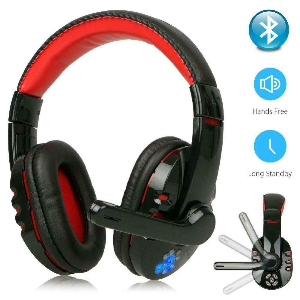 Fones de Ouvido Estéreo com Microfone para Computador v8 sem Fio Bluetooth Gaming Headset Portátil Estéreo Dobrável Microfone Handfree Leitor Música
