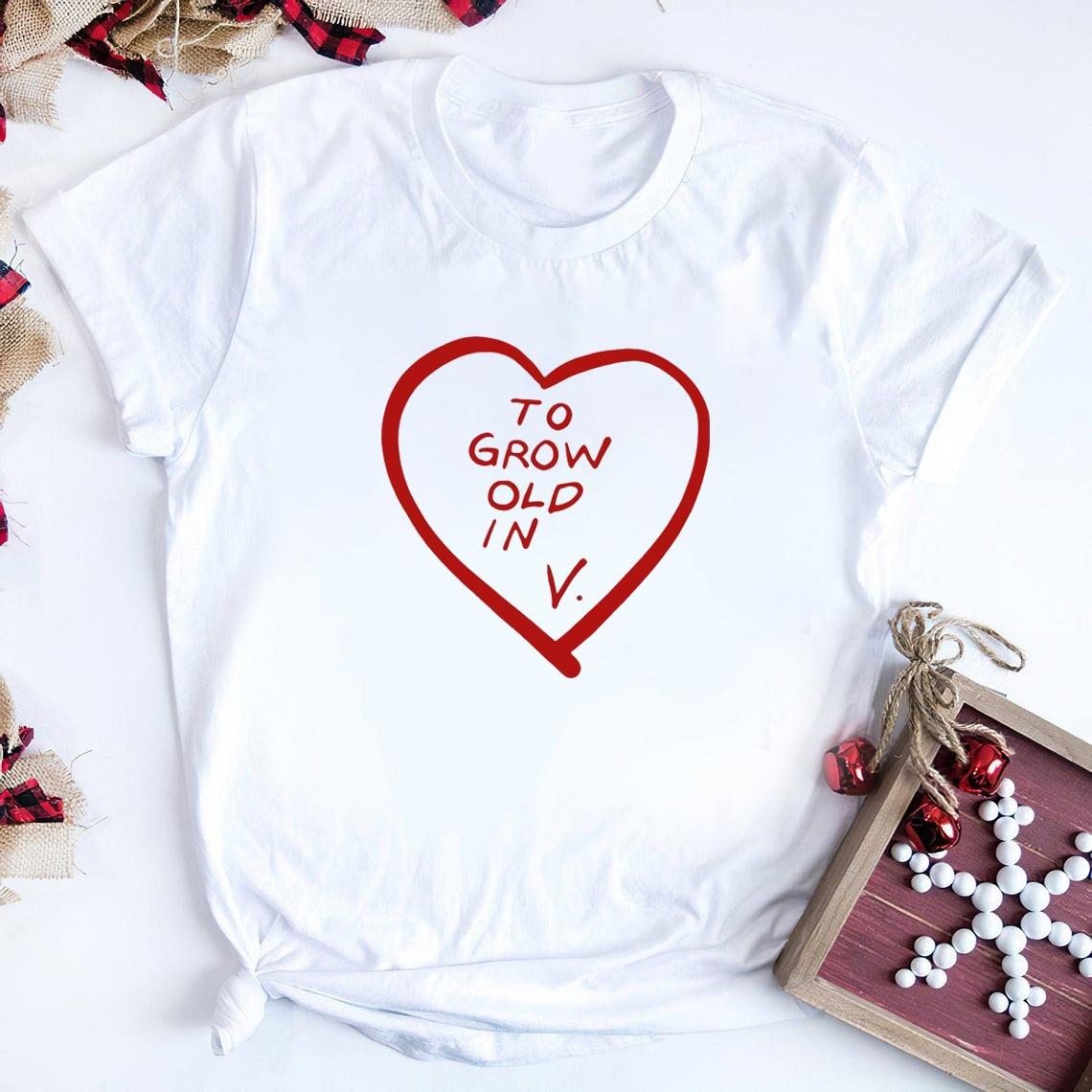 WandaVision Shirt To Grow Old In Vision T-Shirt Tv Show Inspired Sayings Shirts Superhero Scarlet Witch Tees Harajuku Tops