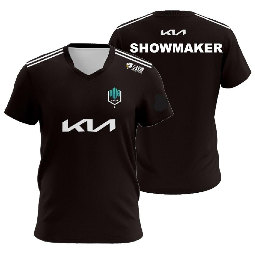 تي شيرت مطبوع للرجال والنساء من LOL LCK Team 2021 تي شيرت DK DWG ShowMaker Canyon Khan شبح تي شيرت مطبوع عليه اسم مخصص ملابس رياضية إلكترونية ملابس شبابية
