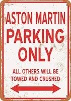 wanln aston martin parking only metal tin sign home garage bar supplies lightweight and interesting outdoor deco
