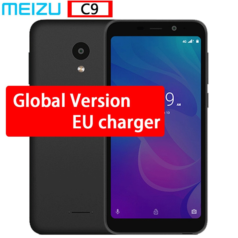 "Original Meizu C9 M9C smartphone versión Global Quad Core 2GB 16GB 5,45 ""pantalla completa 13.0MP Cámara 3000mAh teléfono móvil"