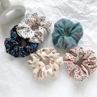 korean version girl flower large intestine scrunchies star hair rope ring hair rope headband retro head flower fashion
