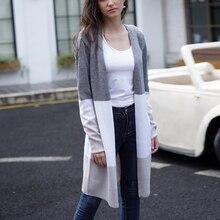 Autumn Modish Cardigans Knitted Sweaters Women Casual Thin Knit Slim Sweater Cotton Long Streetwear Coat Female Plus Size 2XL