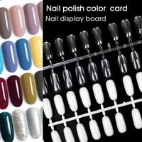 5 pcs 120 tips professional nail tips blanks s gel polish display card book color board chart art salon manicure tools