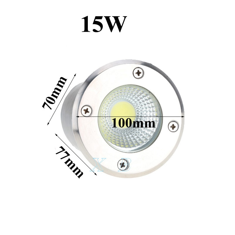 Paquete de luces LED subterraneas para uso en exteriores, luz de camino para jardin, suelo, patio o lugares al aire libre enlarge