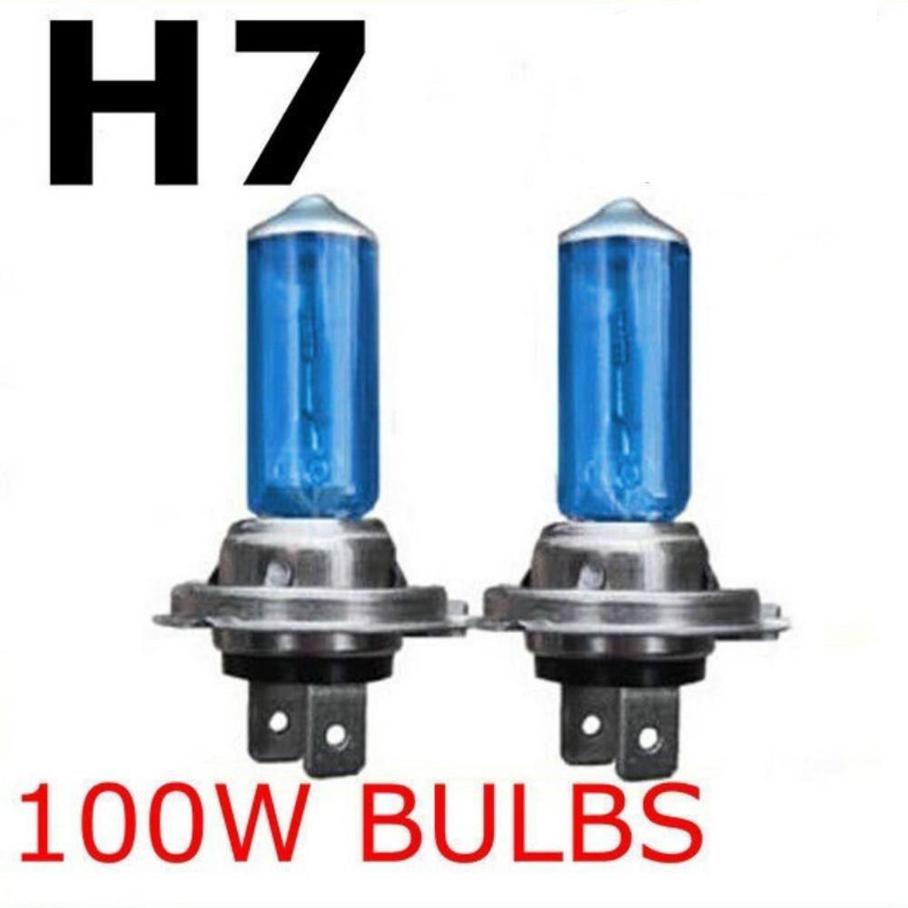 2 Pcs H7 6000k Xenon Gas Halogen Headlight Super Bright White Fog Halogen Lamp Bulb 100w Car Head Light Lamp 12v Fog Lights