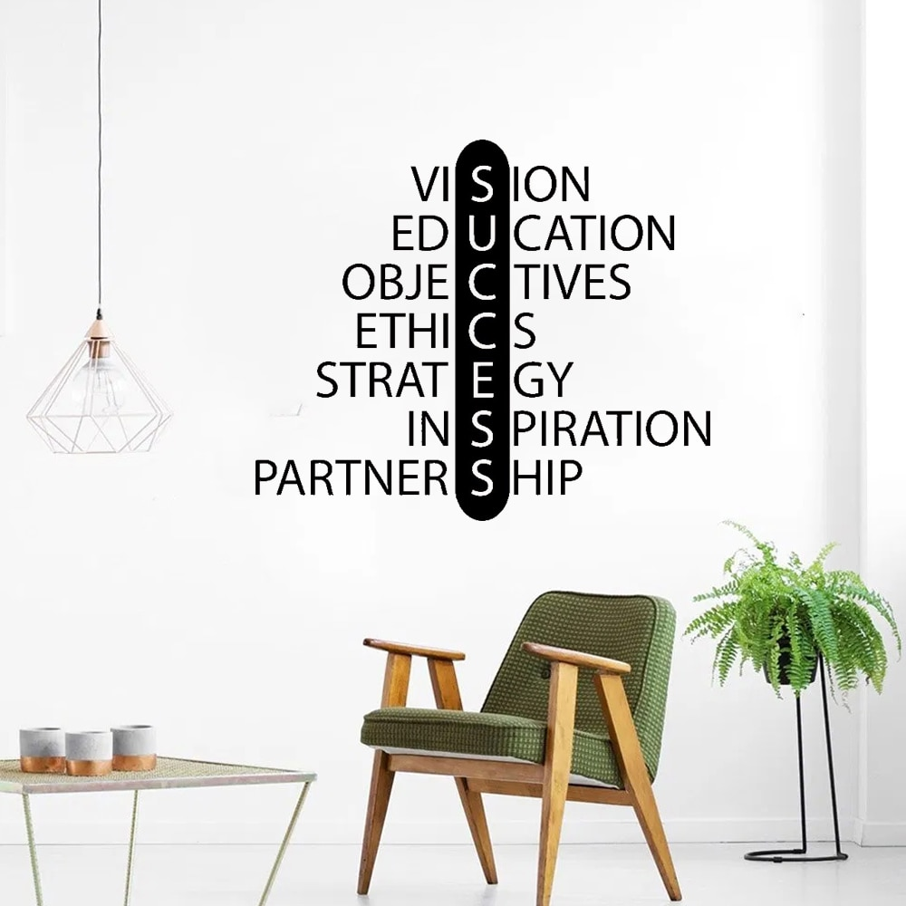 Creative Business Education Wall Decal Success Quote Wall Decal Removable For Office Poster Vinyl Art Decor CY98 business education