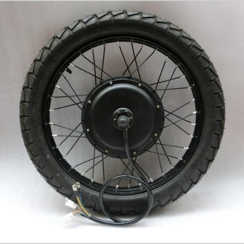 Kit de bicicleta eléctrica, rueda de Motor de 5000w, 72V E, Kit de bicicleta de 300W, Kit de Motor de rueda de conversión de bicicleta eléctrica para Motor central trasero de 18-29in