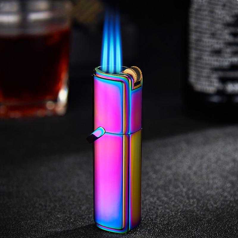 Jobon металлическая газовая зажигалка, струйный бутановый шлифовальный круг, три фонаря, турбо зажигалки, аксессуары для сигарет, зажигалки д...