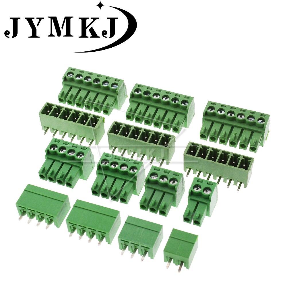10 комплектов KF2EDG/15EDG 3,81 Клеммник разъем RC2ERCK 3,81 мм Шаг вилка + штыревой разъем 2/3/4/5/6/7/8/9/10 пин