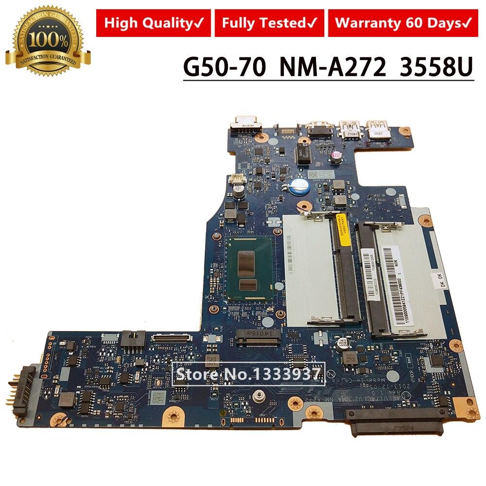 11S90005941 اللوحة الأم لأجهزة الكمبيوتر المحمول لينوفو G50-70 Z50-70 ACLU1/ACLU2 UMA NM-A272 اللوحة الرئيسية مع بطاقة SR1E8 3558U