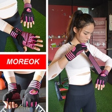 MOREOK Fitness gants de gymnastique respirant entraînement entraînement gants anti-dérapant haltérophilie gants Spin vélo haltères pour hommes femmes