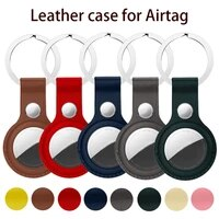 leather case for apple airtags location tracker protective cover for airtags bluetooth tracker anti lost device keychain sleeve