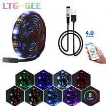 LTG-GEE 5V 0,5-5 M USB Bluetooth LED Streifen Licht 5050 RGB Musik Remote APP Control TV Hintergrundbeleuchtung flexible RGB LED Licht Band