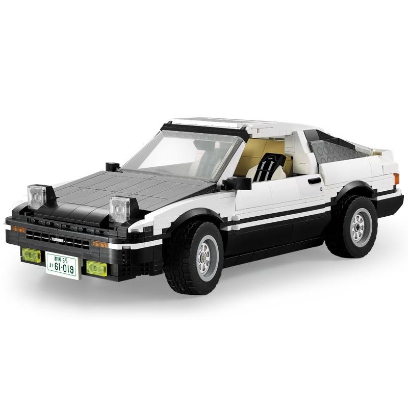 CaDA C61019W 1234pcs 1/12.5 High-Simulation AE86 Drift Racing Car Technic Building Blocks Learning Educational Toy for Kids Gift