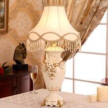 Lampes de Table modernes en céramique de raisin pour chambre salon chevet avec perle tissu ombre bureau lumière candeeiro de mesa veilleuse