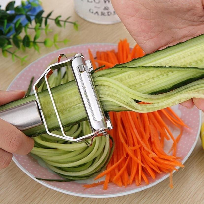 Многофункциональная Овощечистка из нержавеющей стали и ампюлиен резак нож для чистки и нарезки соломкой картофеля морковь Терка кухонный инструмент