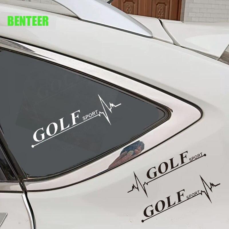 2 uds, golf mk1 mk2 mk3 mk4 mk5 mk6, pegatina de ventana de coche para Volksagen golf golfr