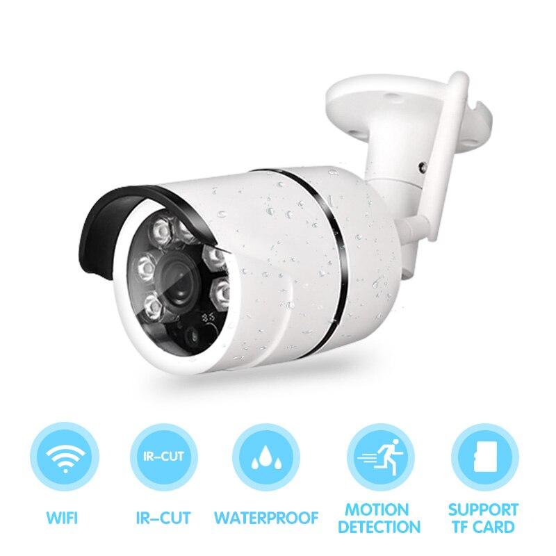 Cámara IP Bullet Wifi HD a prueba de agua, cámara de vigilancia de visión nocturna de 1MP 720P para seguridad en el hogar, uso exterior, ONVIF P2P H.264