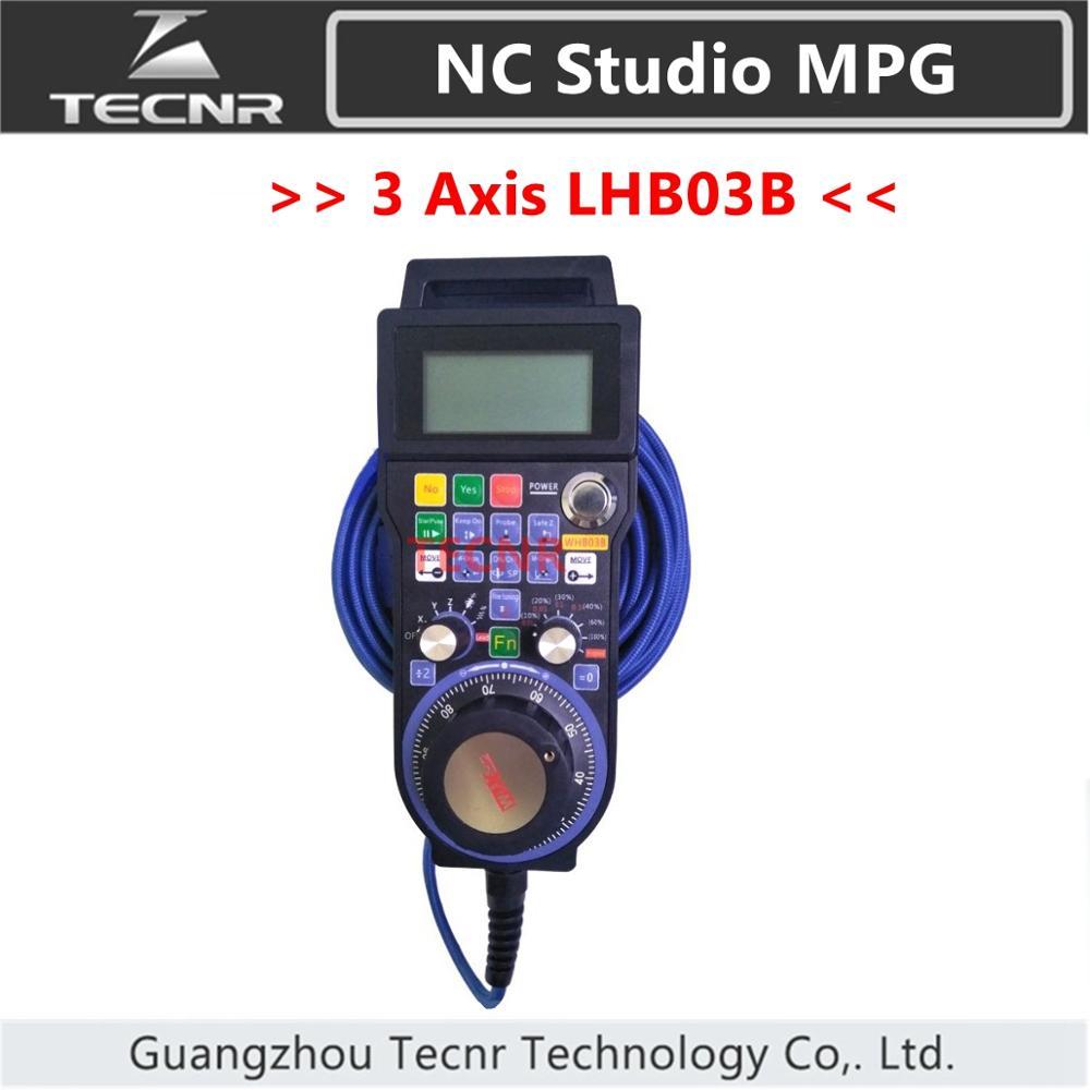 XHC NCStudio LHB03B CNC Hand pulse generator MPG 3 axis NC Studio handwheel  support V5 V8 version for engraving machine