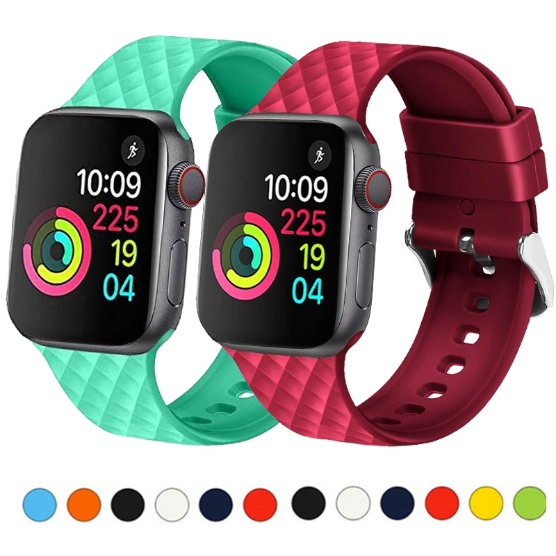 metal strap for apple watch band 42mm 38mm watch band 44mm 40mm sport bracelet watchband for i watch 5 4 3 2 1 wristband belt Strap for Apple watch band 4 5 44mm 40mm sport silicone watchband iwatch 3 2 1 42mm 38mm bracelet belt Apple watch accessories
