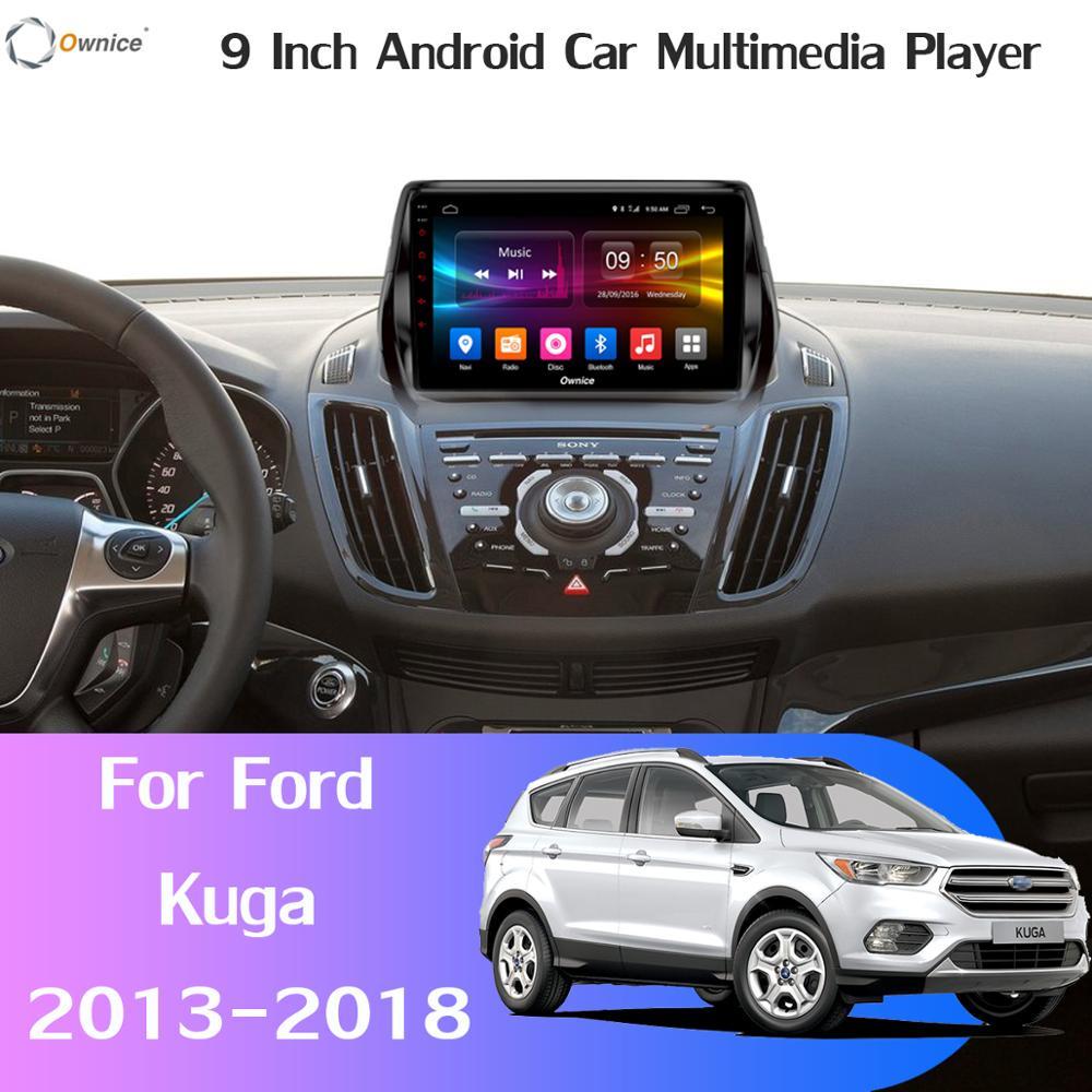 360 ° cámara panorámica SIM 4G WiFi Android 9,0 4G + 64G SPDIF DSP CarPlay del jugador del coche para Ford Kuga 2013-2018 C-Max GPS Radio