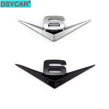 DSYCAR 3D Metall V6 Motor Display Auto Aufkleber Emblem Abzeichen Für Jeep BMW Ford Lifan Nissan Mazda Audi Honda auto lada Chevrolet