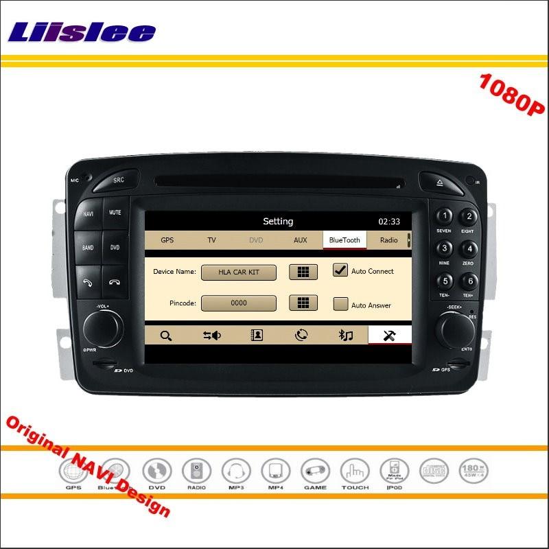 Liislee para Mercedes Benz CLK C208 W208 1996 ~ 2008 Radio de coche reproductor de DVD de navegación GPS HD 1080P Sistema de pantalla Original con Aux