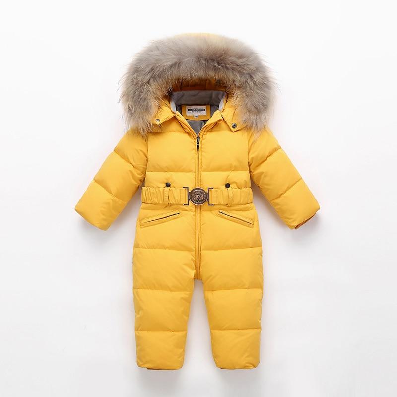 2021 Boys Winter Snowsuit Girl Jumpsuit Kids Overalls Children Ski Suit Snow Wear Duck Down Outerwear for Girl Coat Toddler Park enlarge
