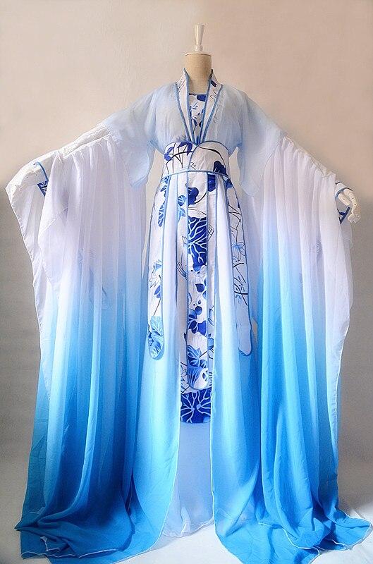 5 تصاميم الأزرق الأبيض التطريز ثلاثية الأبعاد زهرة اللوتس زهرة تجسيد الذكور الإناث تأثيري حلي Hanfu كوس جيانغ Chenyu Susu