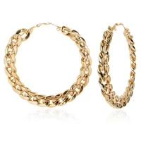 punk rock gold color twisted large hoop earrings for women oversized big circle round loop earrings fashion party jewelry gifts