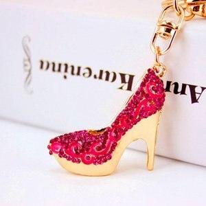 Fashionable Design Creative Key Chain Key Chain Women Shoes High Heels Key Chain Pendant Keys Purse Decoration