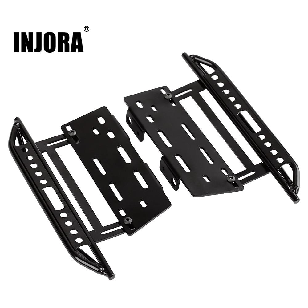 INJORA 2 قطعة RC سيارة صخرة المتزلجون المعادن دواسة ل 1:10 RC حفارات محوري SCX10 SCX10 II 90046