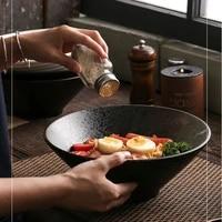 7 inch simple japanese style tableware ramen noodle bowl instant noodles bowl ceramic tableware spoon chopsticks set
