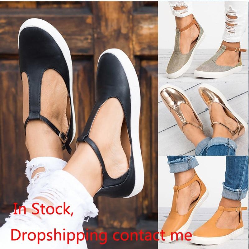 Sandalias de verano para mujer, zapatos planos de Punta cerrada a la moda para mujer, calzado para mujer, Sandalias transpirables de talla grande